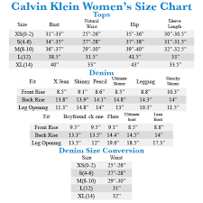 Calvin Klein Shirt Size Chart Best Picture Of Chart