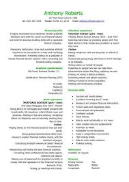Graduate financial advisor CV sample, how to write a CV, curriculum vitae,  students, jobs