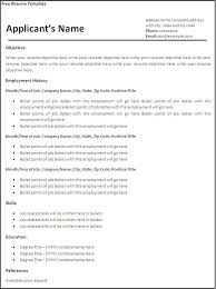 Free Resume Downloadable Templates Adorable Free Printable Resume Templates The Proper Academic Of Sample Will