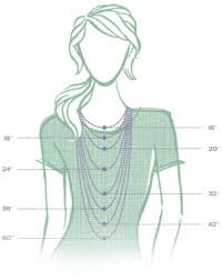 Choker Length Chart Jewelry Size Guide Carolyn Pollack Jewelry