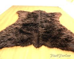 black faux fur rug bathroom rugs simple contemporary area black faux fur rug sheepskin