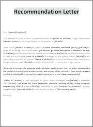 Letter Of Recomendation Example Recommendation Letter For Nurses Nursing Student Reference Letter