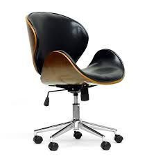 amazoncom baxton studio bruce modern office chair walnutblack