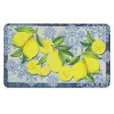 classy italian lemons 18 in x 30 in kitchen mat
