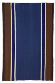 navy brown border stripe flatweave rug cottage home navy striped runner rug