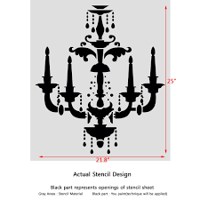 chandelier wall stencil beatrice for wall decorate painting previous next