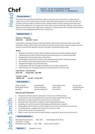 Example Of Chef Resume Examples Of Resumes