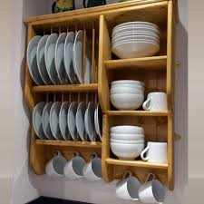wooden plate racks wall mounted plate