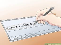how to write a check steps pictures wikihow image titled write a check step 2