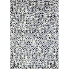 contemporary navy blue 8 foot runner rug everek
