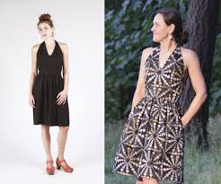The Rose City Halter Dress Sewing Pattern M Is For Make