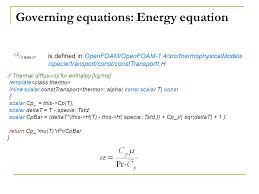 governing equations energy equation