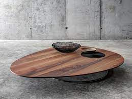 low wooden coffee table for living room