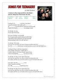 Esl songs for teens