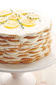 Meyer Lemon Thyme Icebox Cake Recipe