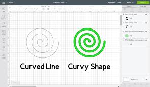 There are so many features, it's ungroup to lines: How To Make A Curved Line In Cricut Design Space Free Svg Curvy Lines