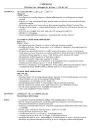 Mental Health Resume Mental Health Clinician Resume Samples Velvet Jobs 19