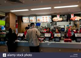 mcdonalds inside counter. Interesting Inside Power Of USA Company Inside Counter McDonalds In Warsaw Poland Showing  American Lifestyle  Stock In Mcdonalds Inside Counter Alamy