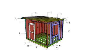 10x12 flat shed roof plans