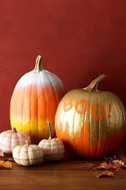view in gallery gold and orange definitely give the spray painted pumpkin a cool look