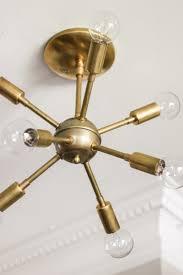 modern brass mid century sputnik atomic chandelier black style lamp