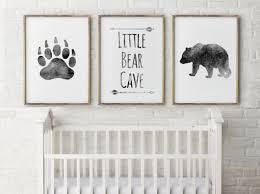 baby boy nursery decor bear cave grey little boys artwork room e set three prints art gift thebrightsidebygina wall stickers design ideas bedroom cool
