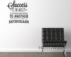 success motivational quote wall sticker enthusiasm quote wall decal diy decorative inspirational quote vinyl wall decal q79 in wall stickers from home  on inspirational business wall art with success motivational quote wall sticker enthusiasm quote wall decal