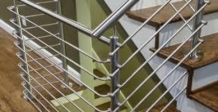steel stair railing. Round Bar System Steel Stair Railing