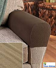 padded chair arm covers. 2 stretch sofa arm cover armrest covers couch chair seat protectors fabric new padded