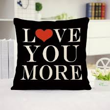 Pillow Quotes Simple Love Quotes Decorative Cushion Cover 48x48CM 48x48IN Simple Style