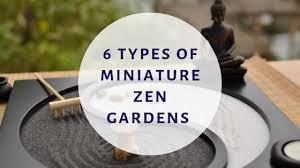 6 types of miniature zen gardens that