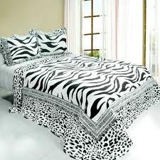 white bedding full black white animal zebra print bedding full queen quilt set cotton design of