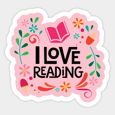 I Love Reading Cute Book - I Love Reading - Sticker   TeePublic UK