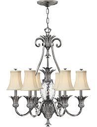 hinkley plantation designer 7 light pineapple chandelier antique nickel