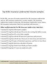 Sample Insurance Underwriter Resume Resume For Your Job Application
