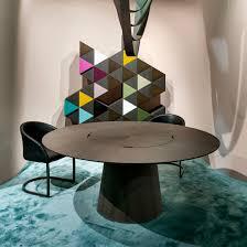 Contemporary Table Wooden Round By Ferruccio Laviani