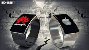 huawei smartwatch. as a direct challenger to the apple watch, chinese technology company, huawei, wednesday launched its high-end smartwatch products in britain. huawei