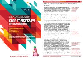 core topic essays for aqa a level psychology vol psychology licenses