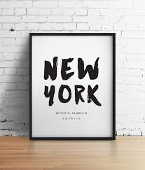 new york city nyc print new york poster travel poster nyc art