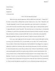 literacy narrative essay final draft kala carroll essay  4 pages english 101 essay 3