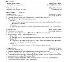 Hr Resume Templates Free Spectacular Mbame Template With Additional Free Sample Example Of 85