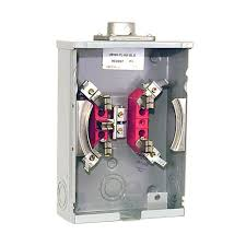 milbank amp terminal ringless overhead underground lever 125 amp 5 terminal ringless overhead horn bypass meter socket