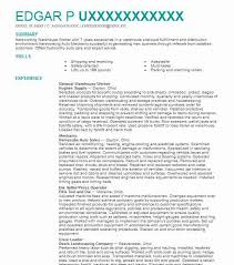 Warehouse Resume Examples Custom General Warehouse Worker Resume Sample Worker Resumes LiveCareer