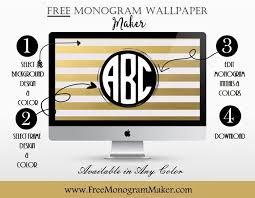 Wonderful Monogram Wallpaper Maker