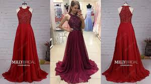 best burgundy a line chiffon long prom dress for s millybridal org