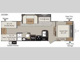 passport 2920bh grand touring floorplan image keystone passport 2920bh grand touring travel trailer highlights bunkhouse quad