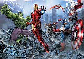Marvel Bedroom Wallpaper Giant Wall Mural Photo Wallpaper For Boy039s Room Avengers