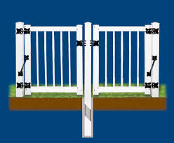 vinyl fence double gate. Click Vinyl Fence Double Gate