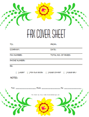 Template Fax Cover Sheets