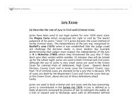 jury criminal civil trials a level law marked by teachers com document image preview